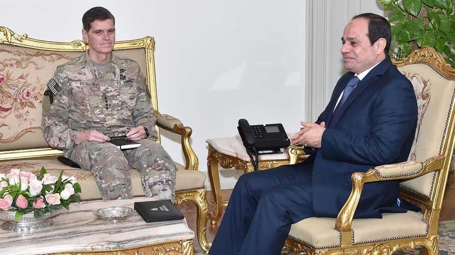 الرئيس المصري أثناء استقباله الجنرال فوتيل- المصدر: الرئاسة المصرية
