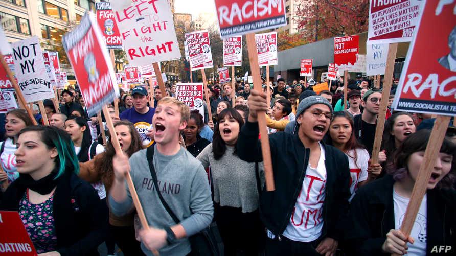 مظاهرات ضد ترامب في سياتل