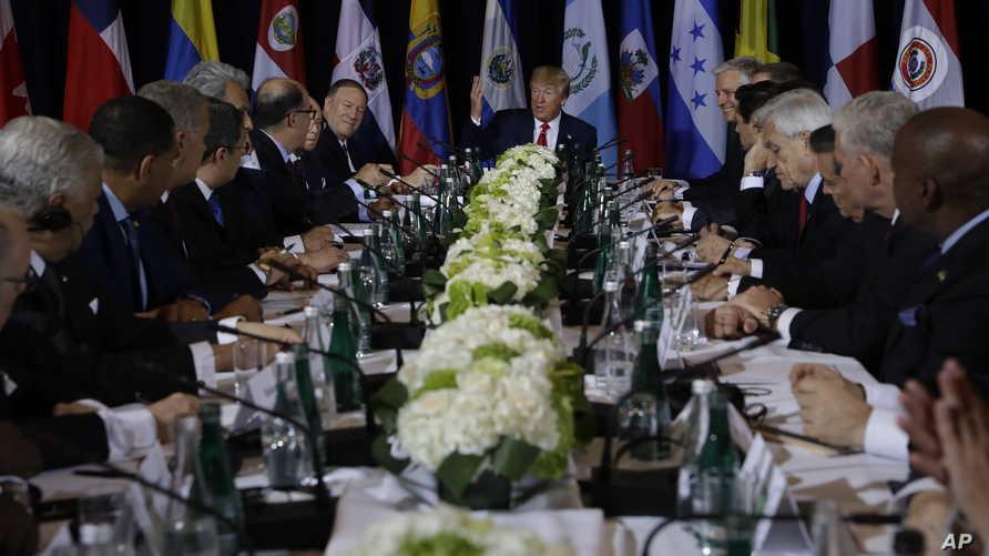 ترامب خلال الاجتماع