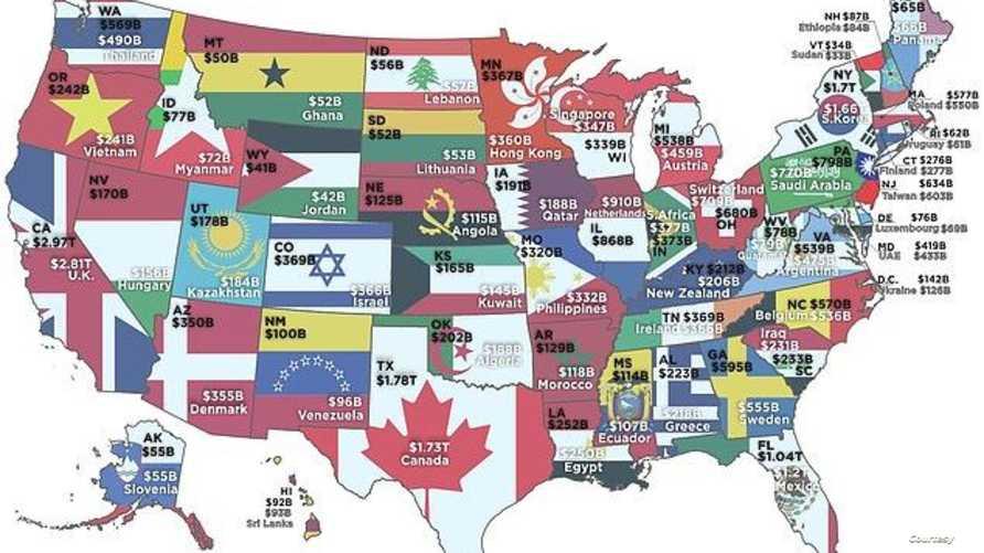 مقارنة ولايات أميركية أغنى من دول الحرة