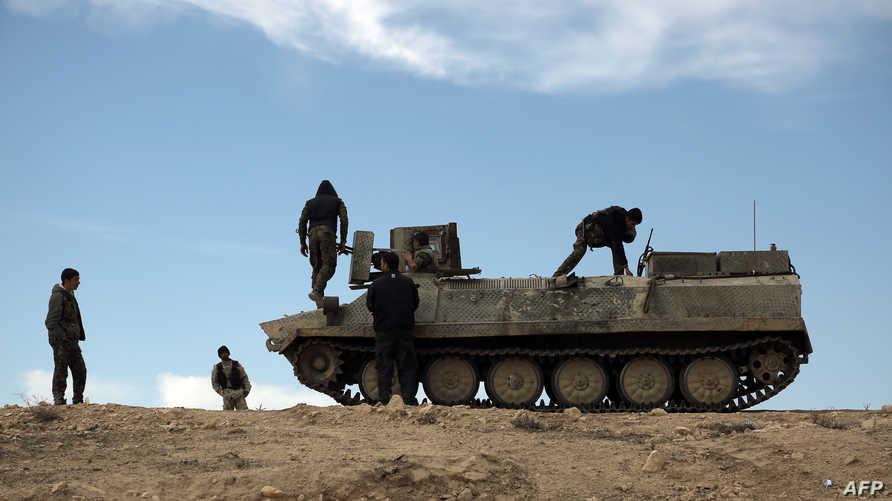 قوات كردية في الحسكة