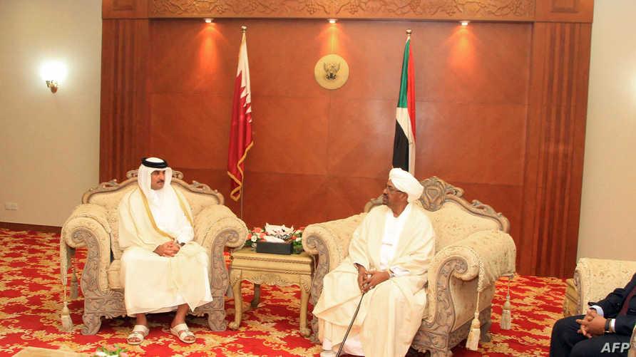 لقاء أمير قطر مع الرئيس السوداني