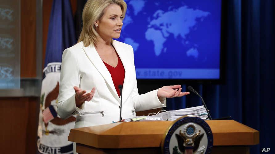 المتحدثة باسم وزارة الخارجية الأميركية هيذر ناورت