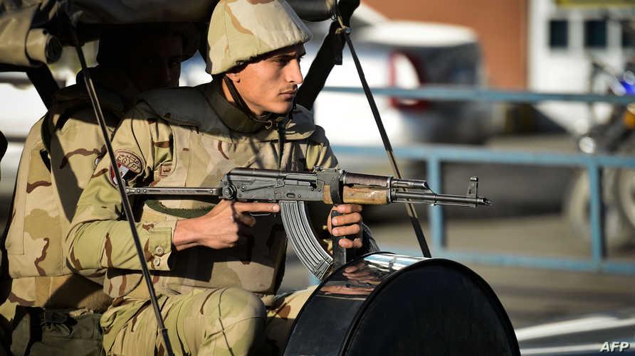 جندي مصري في شمال سيناء- ارشيف
