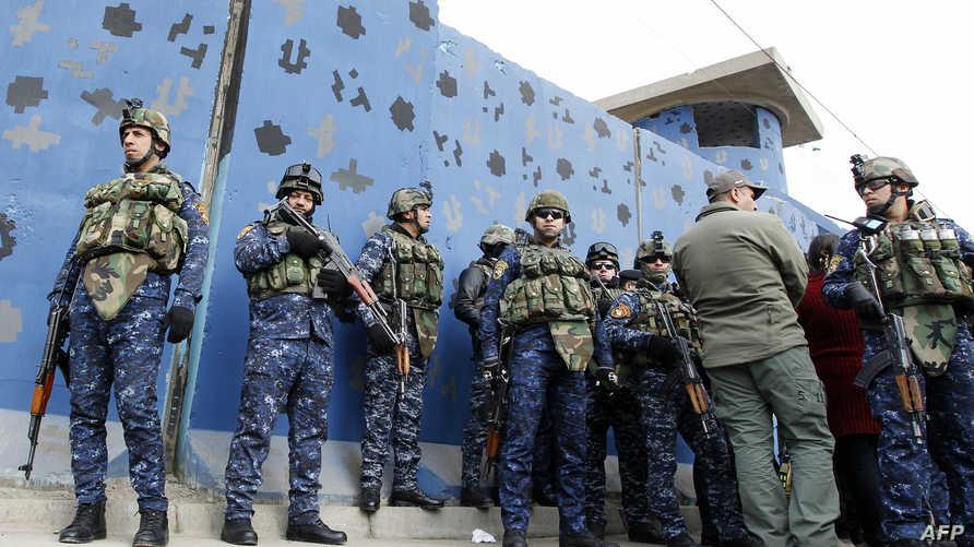 عناصر من الشرطة العراقية في بغداد