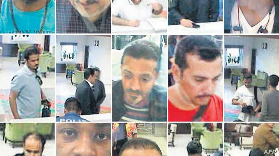 صورة تجمع بعض المتهمين بمقتل خاشقي والذين حظرت الولايات المتحدة دخولهم أراضيها