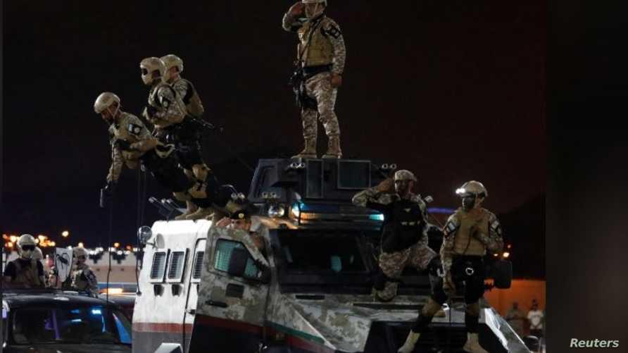 جنود سعوديون خلال عرض عسكري