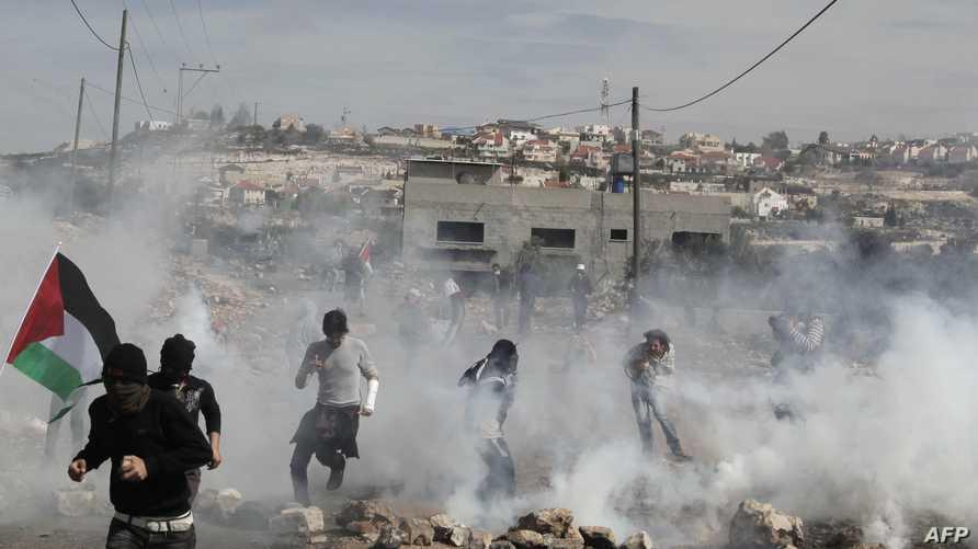 مواجهات بين فلسطينيين والشرطة الإسرائيلية في الضفة الغربية-أرشيف