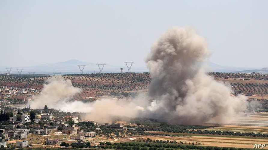 قصف على إدلب