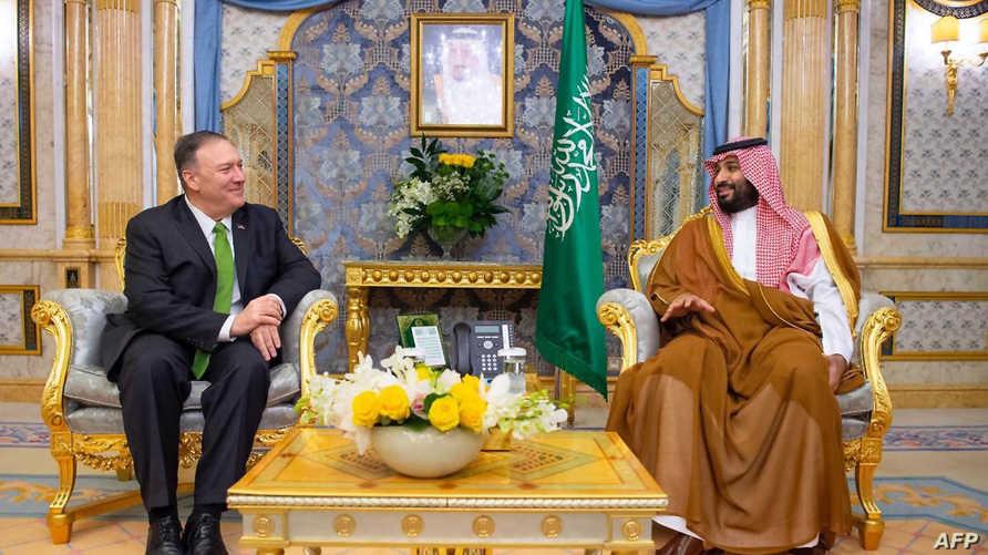 اجتماع بومبيو مع ولي العهد السعودي في جدة بتاريخ 18 سبتمبر 2019