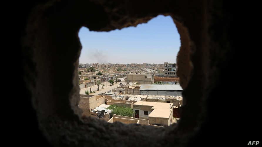 منظر عام لأطراف مدينة الرقة