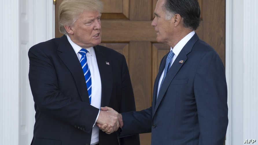 لقاء سابق بين ترامب ورومني