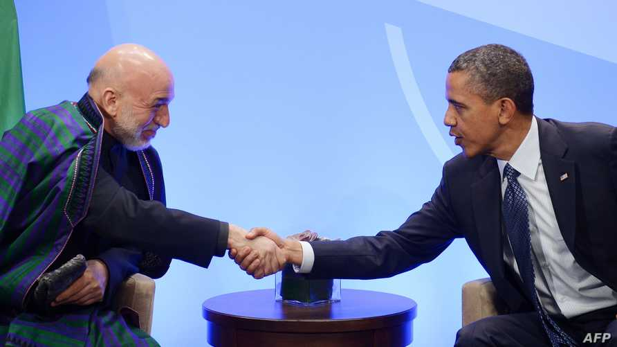 الرئيس باراك أوباما ونظيره الأفغاني حامد كرزاي