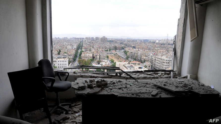 من هجوم سابق في العاصمة دمشق