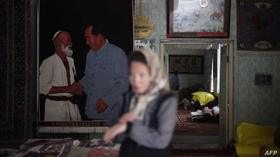 امرأة من أقلية الإيغور - صورة أرشيفية