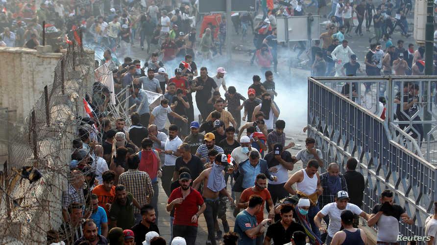جانب من المظاهرة التي شهدتها بغداد