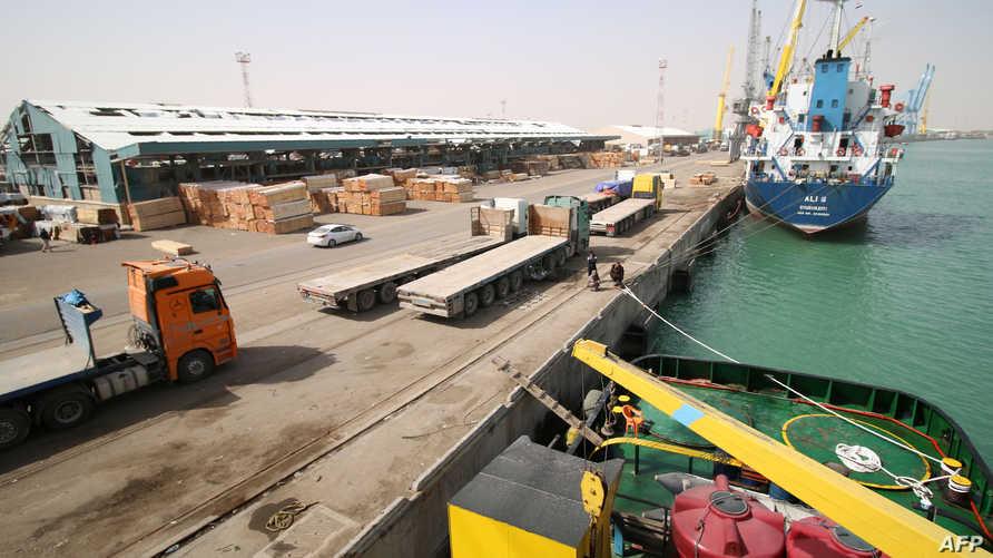 ميناء أم قصر في البصرة-أرشيف
