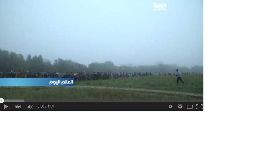 لاجئون في انتظار فتح الحدود السلوفينية-الكرواتية