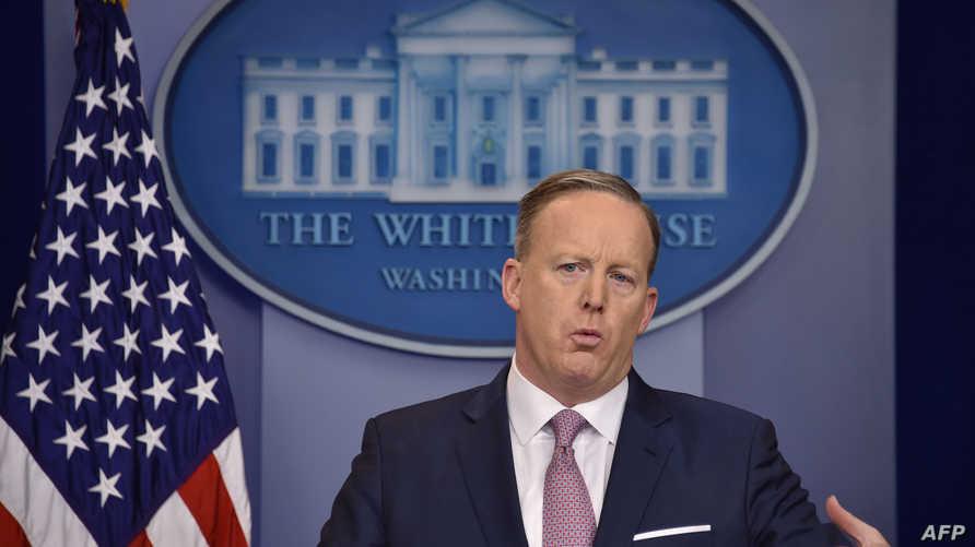 المتحدث باسم البيت الأبيض شون سبايسر الاثنين