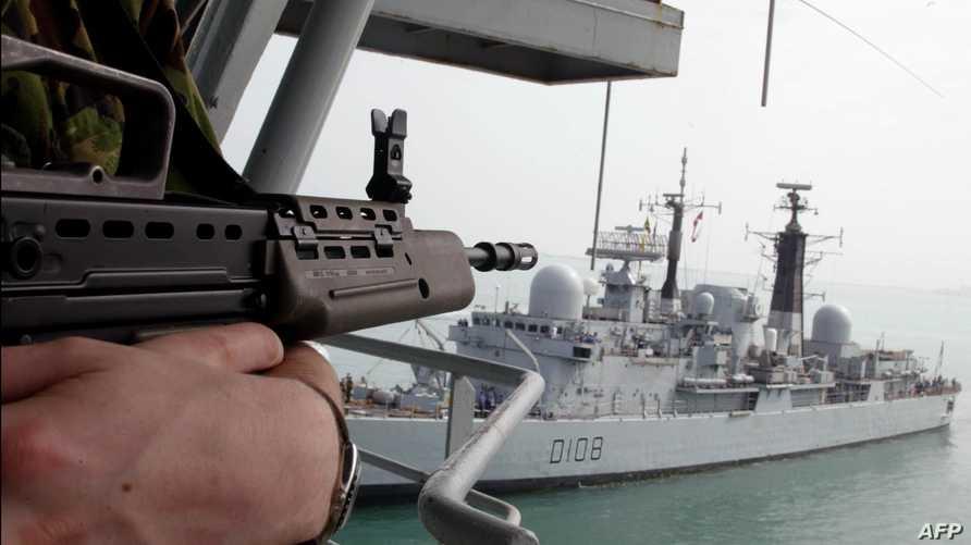 سفينة حربية تابعة للبحرية الملكية البريطانية. أرشيفية