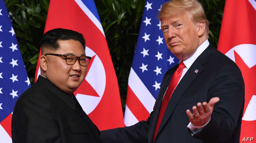 من لقاء ترامب السابق مع كيم