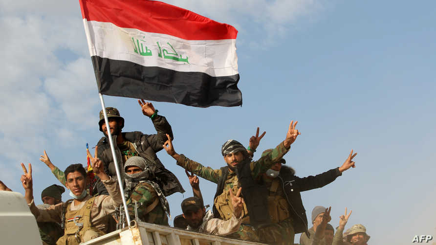 مقاتلون من الحشد الشعبي جنوب الموصل