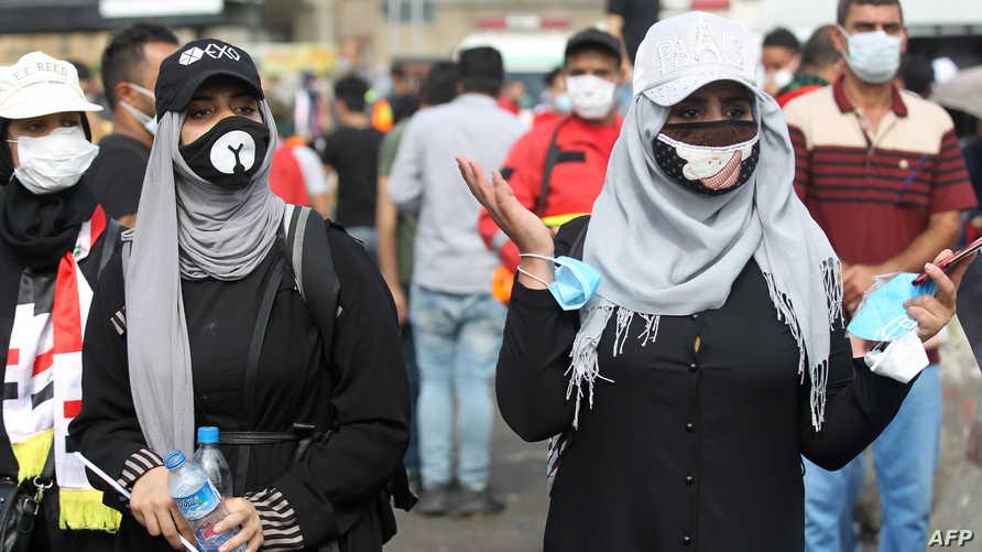 تشكل مشاركة النساء في الحراك العراقي علامة فارقة غير مسبوقة