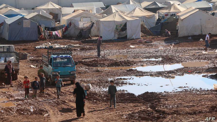 نازحون من حلب -أرشيف