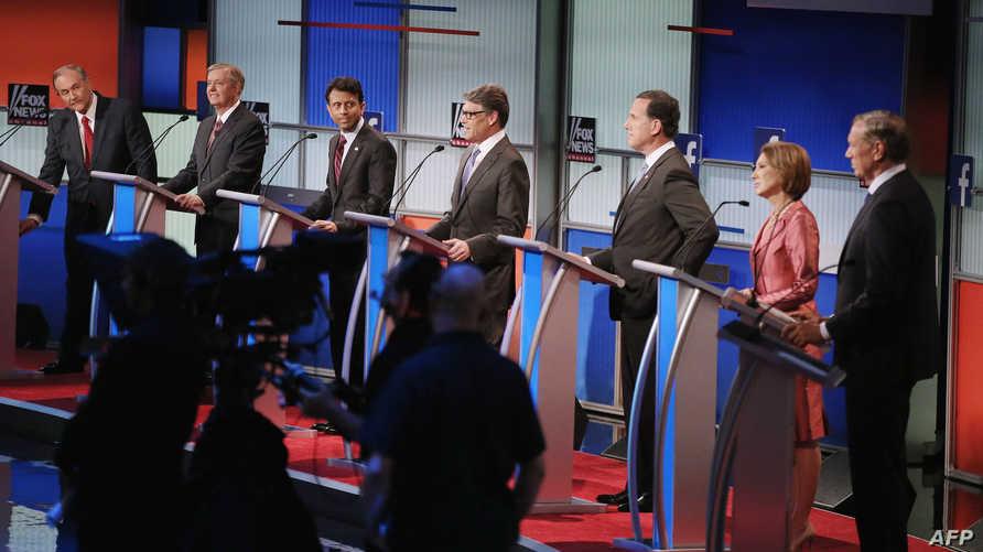 الجمهوريون في أول مناظرة تلفزيونية