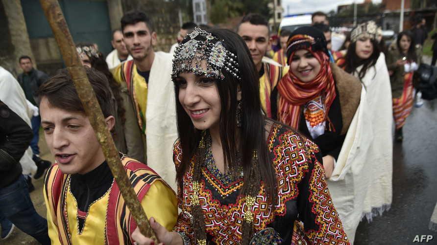 من احتفالات أمازيغ الجزائر برأس السنة الأمازيغة 2018