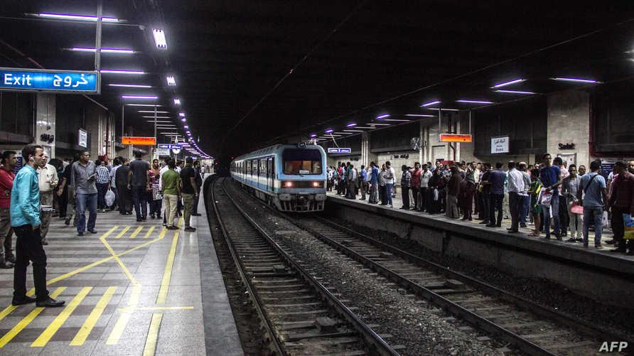 إحدى محطات مترو الأنفاق في القاهرة