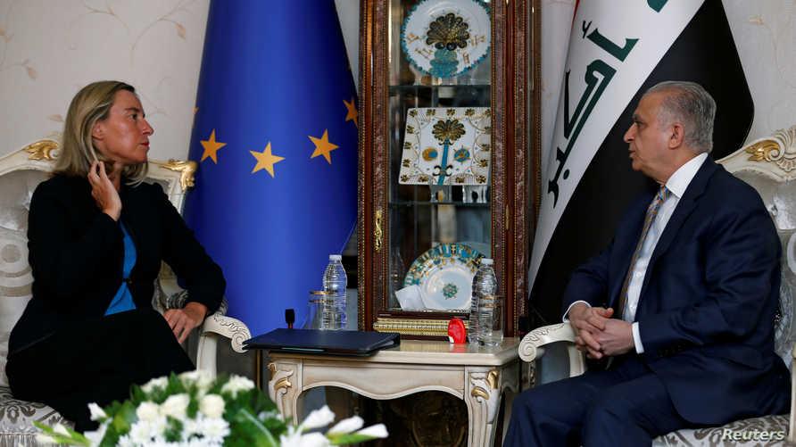 موغيريني خلال لقائها مع وزير الخارجية العراقي في بغداد