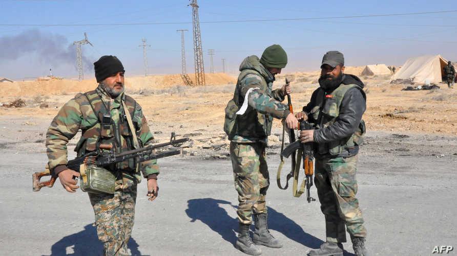 عناصر في القوات النظامية السورية في حمص- أرشيف