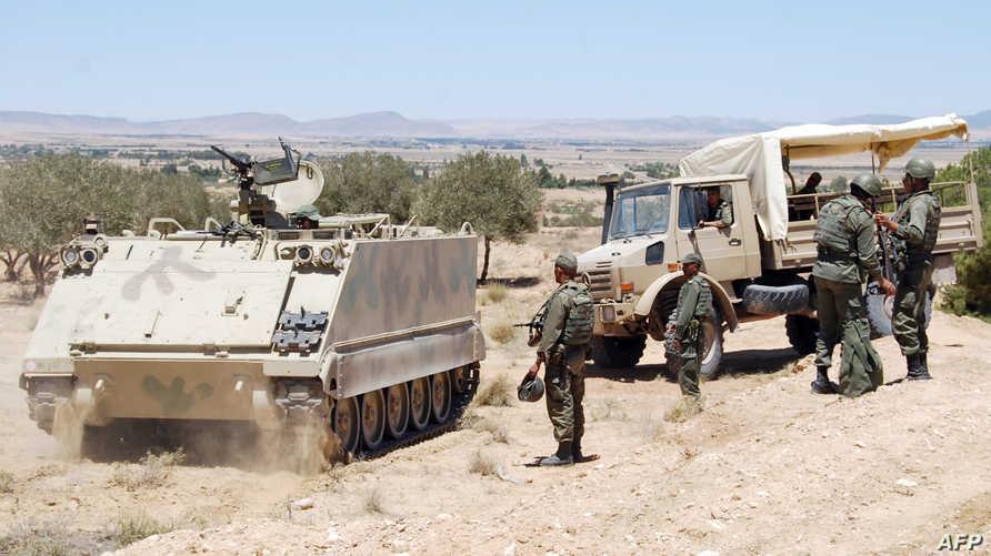 عناصر الجيش التونسي في جبل الشعانبي