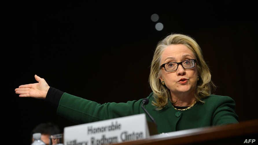 كلينتون خلال شهادتها حول هجوم بنغازي