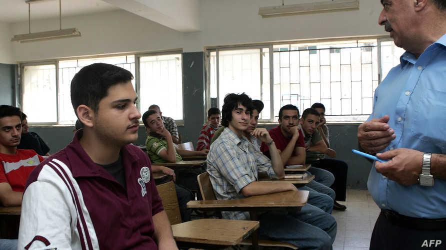 قاعة دراسة بإحدى المدارس الأردنية