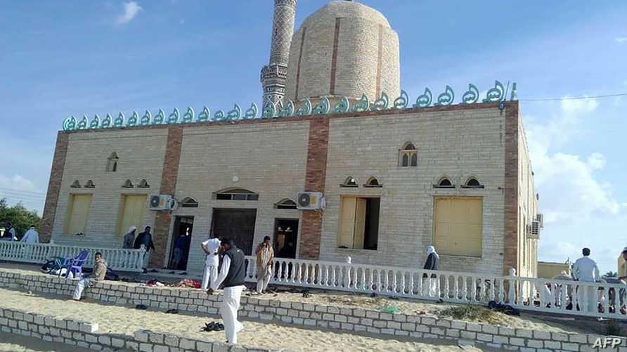 مسجد الروضة الذي تعرض لهجوم في سيناء