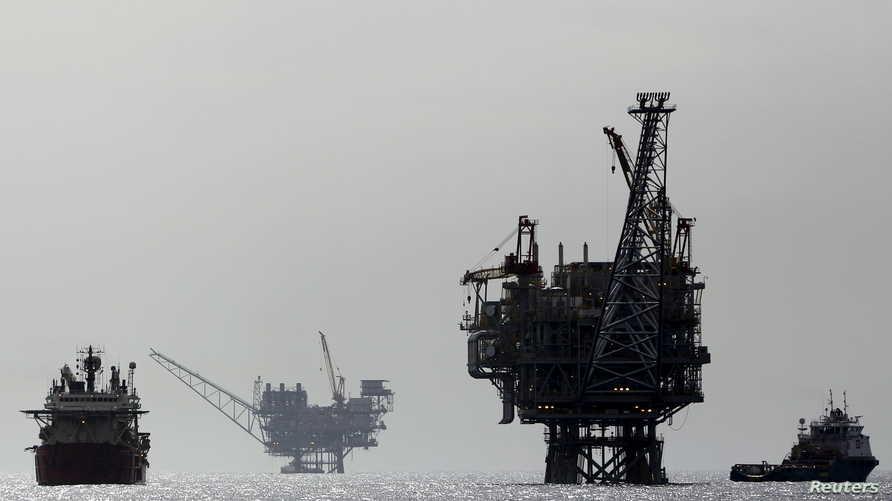 منصات عاز تابعة لمجموعة أميركية- إسرائيلية للطاقة في المتوسط قبالة أشدود في إسرائيل- أرشيف