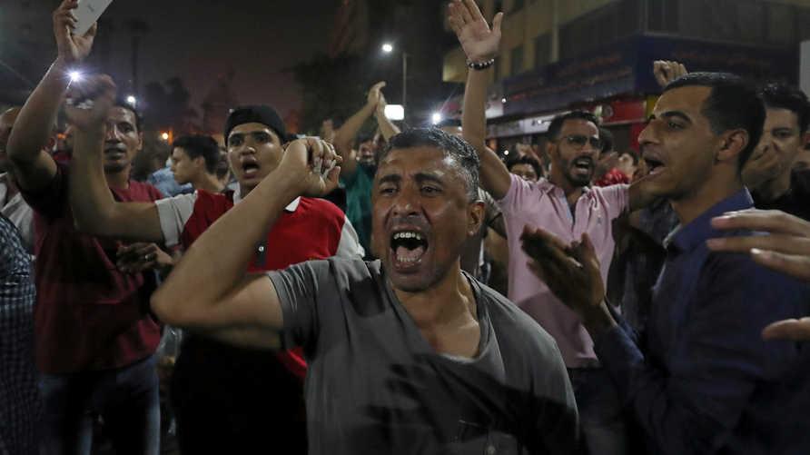 جانب من التظاهرات في مصر الجمعة