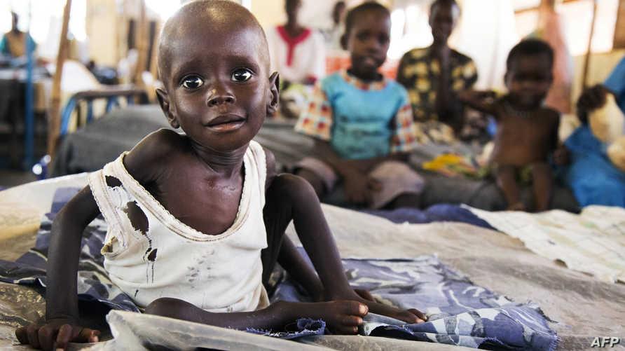أطفال مهددون بالموت بسبب المجاعة في جنوب السودان