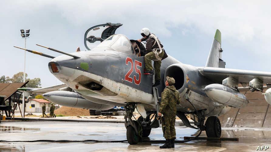 طائرة سوخوي 25 روسية في سورية