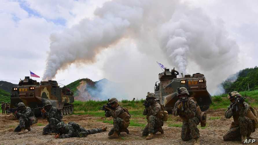قوات أميركية وكورية جنوبية في مناورات مشتركة -أرشيف