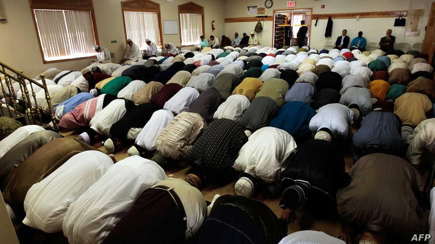 مسلمون في أحد مساجد نيويورك