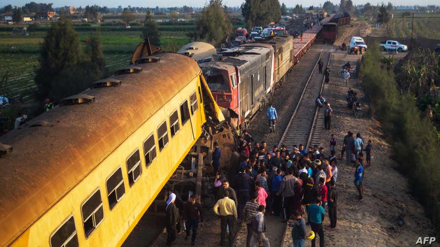 حادث قطار سابق في مصر، أرشيف
