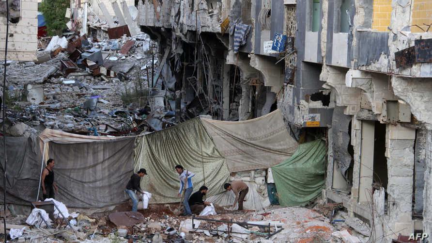 مخلفات اشتباكات سابقة في درعا