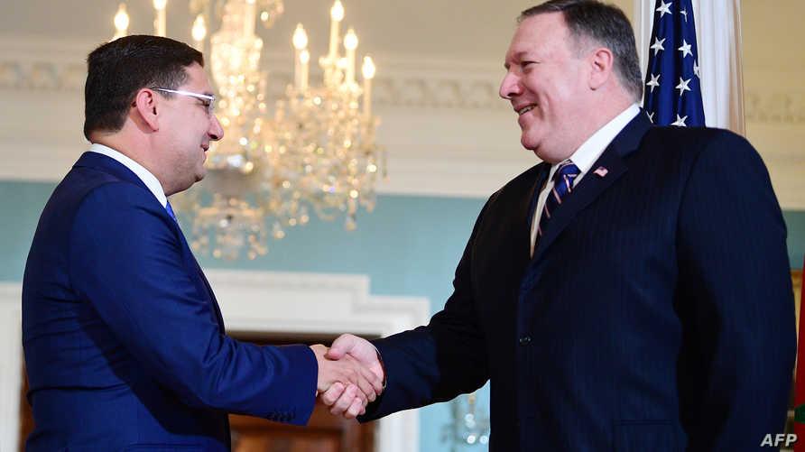 وزير الخارجية الأميركي مايك بومبيو ونظيره المغربي ناصر بوريطة