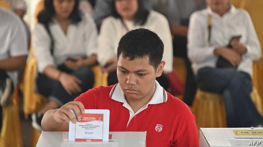 جانب من الانتخابات في إندونيسيا