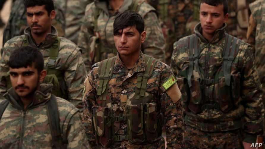 مقاتلون من قوات سوريا الديمقراطية - أرشيف