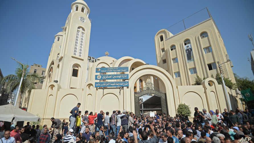 أقباط مصر يشيعون ضحايا الاعتداء الأخير