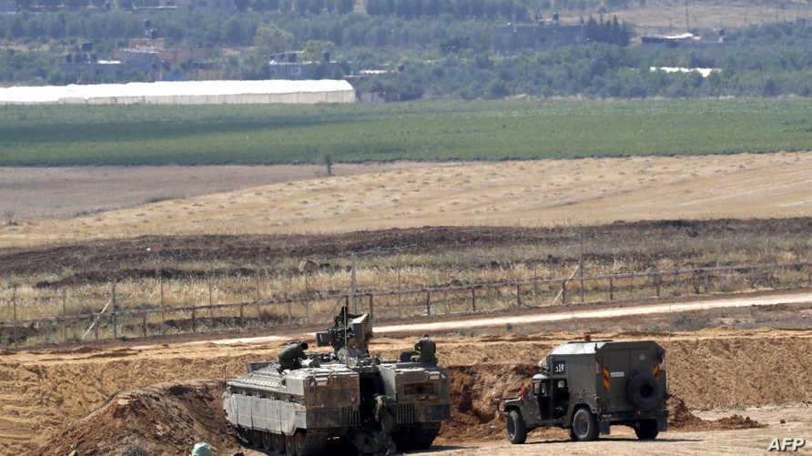 قوات إسرائيلية عند الحدود مع قطاع غزة